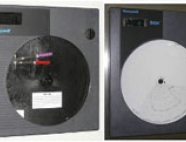 Control boxes with black and white discs and operating system